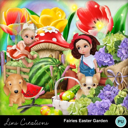 Fairies easter garden2