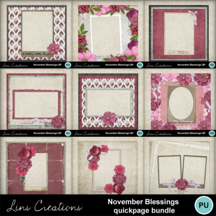 November blessings quickpage bundle