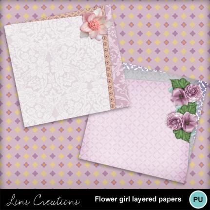 flowergirllayeredpapers